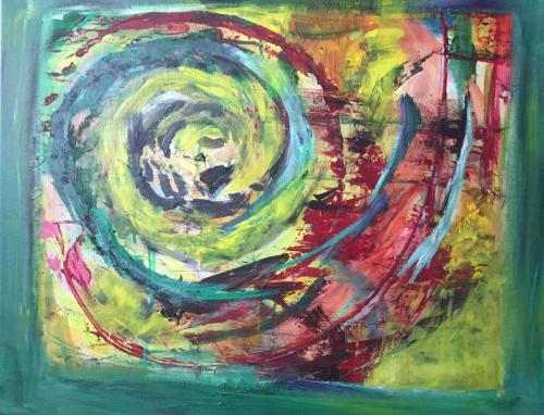 Schnecke der Gedanken - Acryl auf Leinwand - 60x40