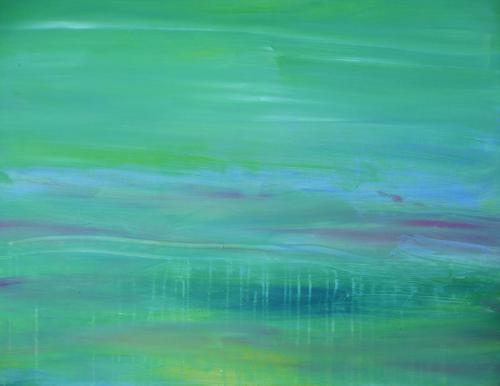 Am Weiher 1 - Acryl auf Leinwand - 80x100