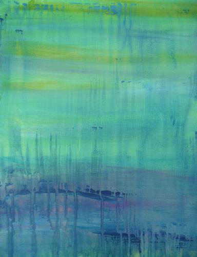 Am Weiher 2 - Acryl auf Leinwand - 80x100