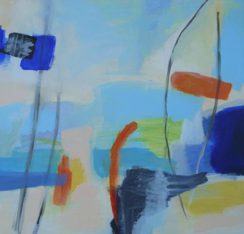 Segel - Acryl auf Leinwand - 80x80