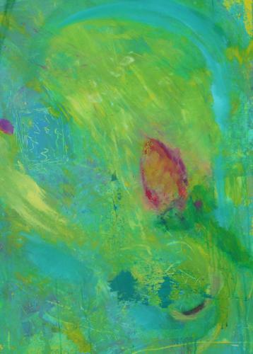 Die Knospe - Acryl auf Leinwand - 70x100