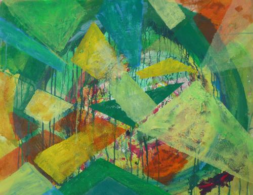 Teil des Ganzen - Acryl auf Leinwand - 100 x 80