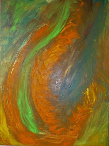 Flamme(n) - Öl auf Leinwand - 30x40